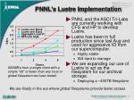pnnl s lustre implementation