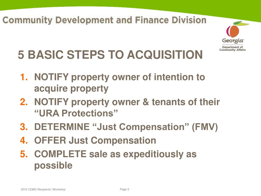 5 BASIC STEPS TO ACQUISITION