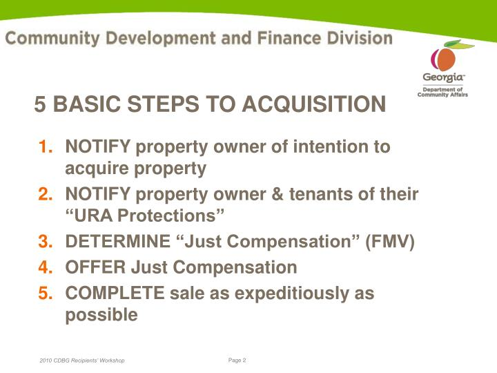 5 basic steps to acquisition l.jpg