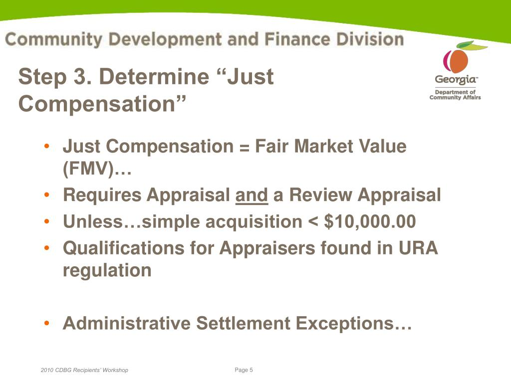 "Step 3. Determine ""Just Compensation"""