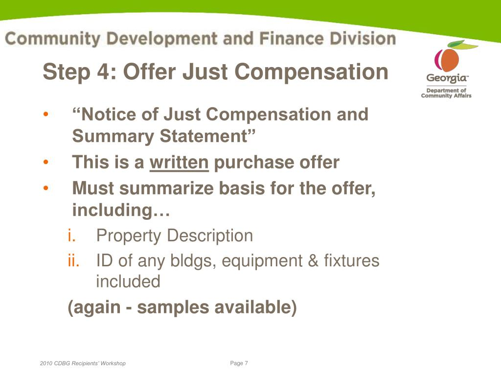 Step 4: Offer Just Compensation