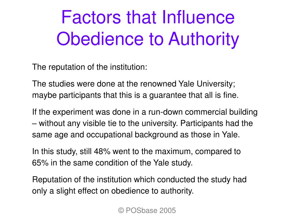 ppt factors that influence obedience to authority powerpoint ppt factors that influence obedience to authority powerpoint presentation id 315851
