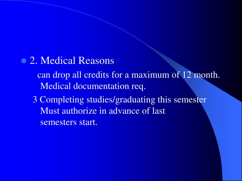 2. Medical Reasons