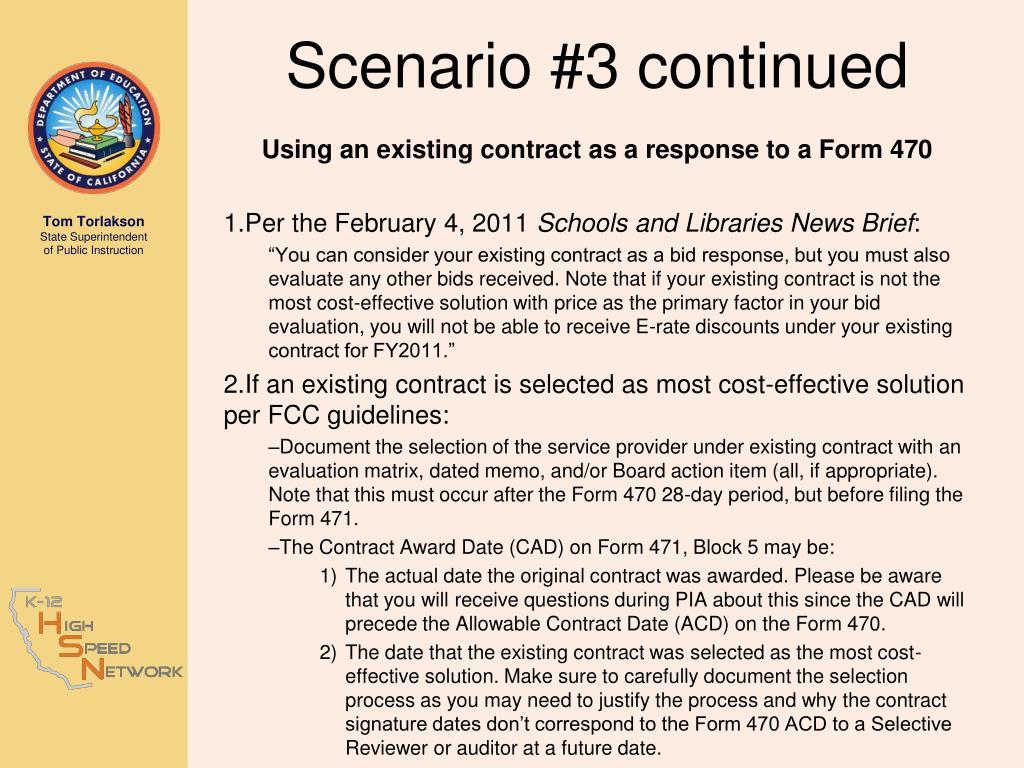 Scenario #3 continued
