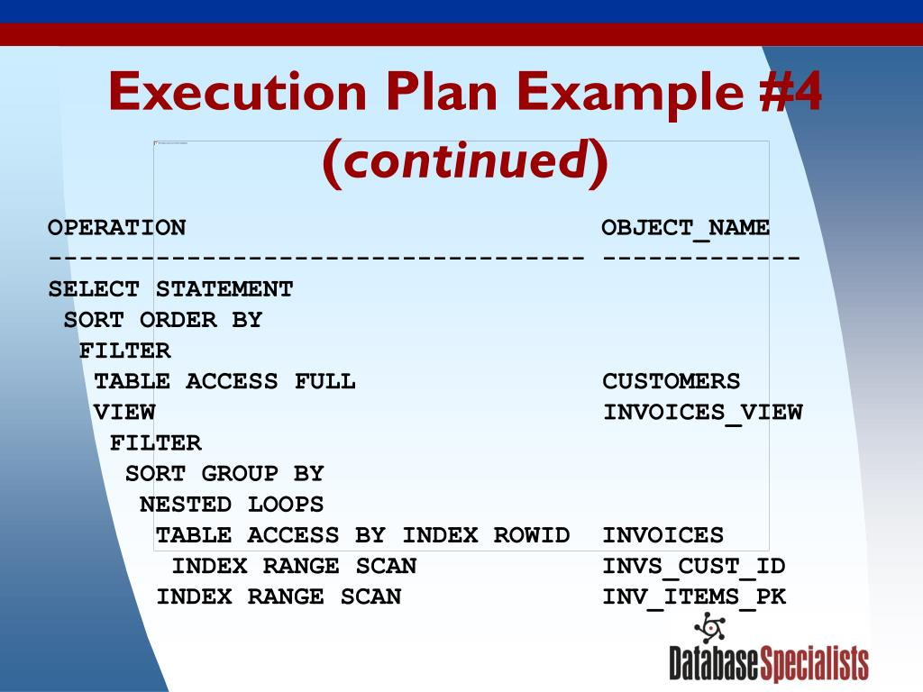 Execution Plan Example #4