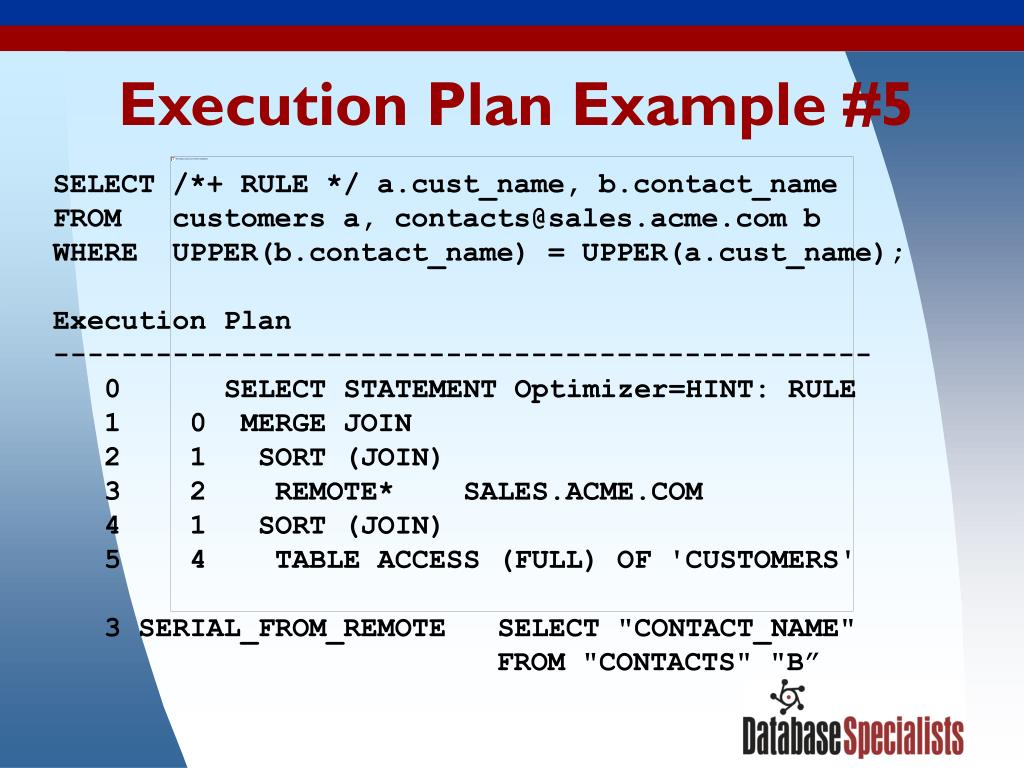 Execution Plan Example #5