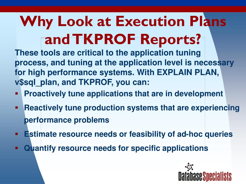 Why Look at Execution Plans