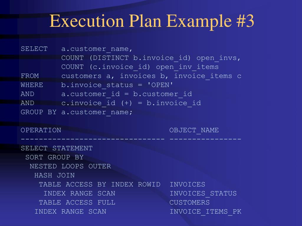 Execution Plan Example #3