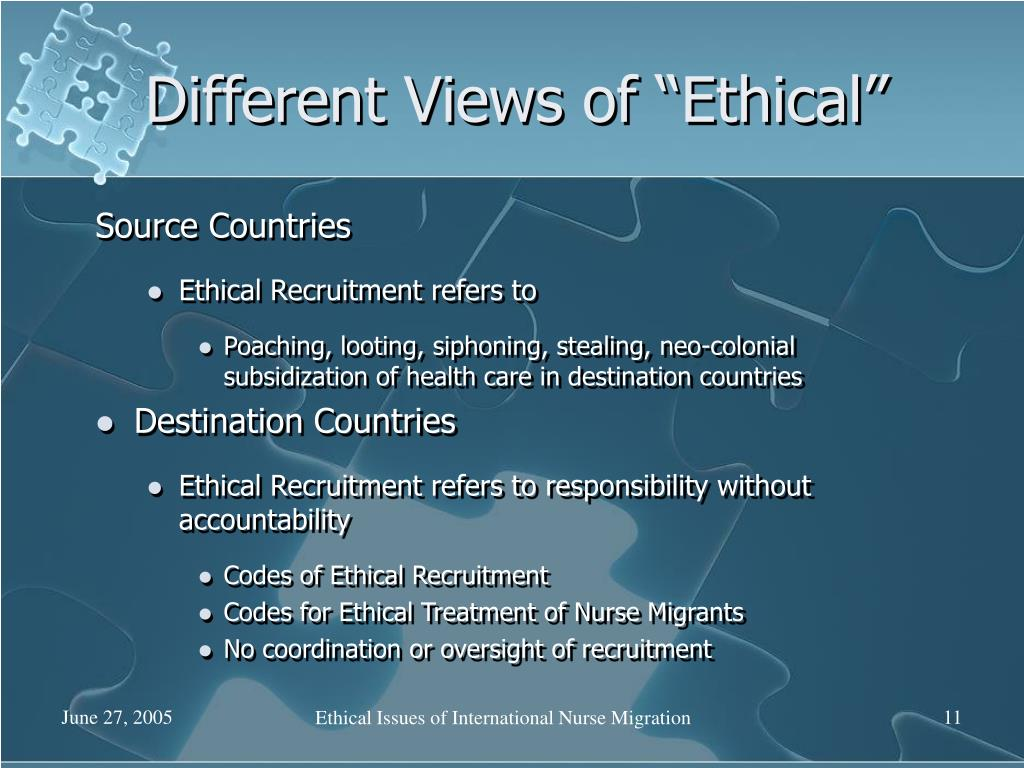 "Different Views of ""Ethical"""