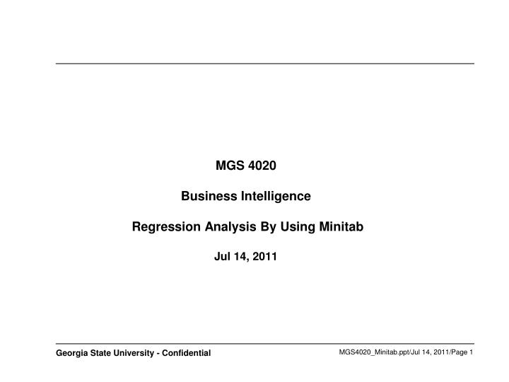 Mgs 4020 business intelligence regression analysis by using minitab jul 14 2011 l.jpg