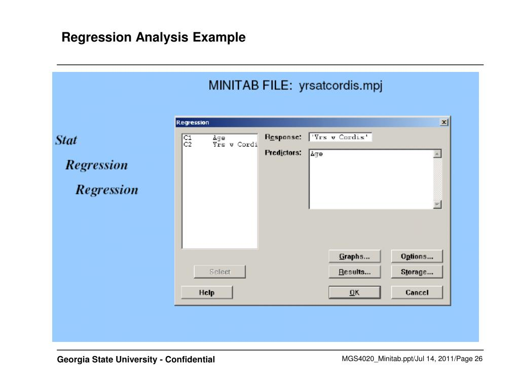 Regression Analysis Example