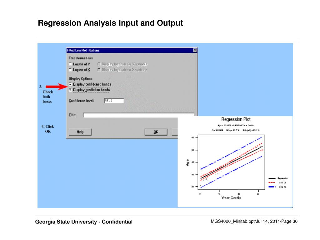 Regression Analysis Input and Output