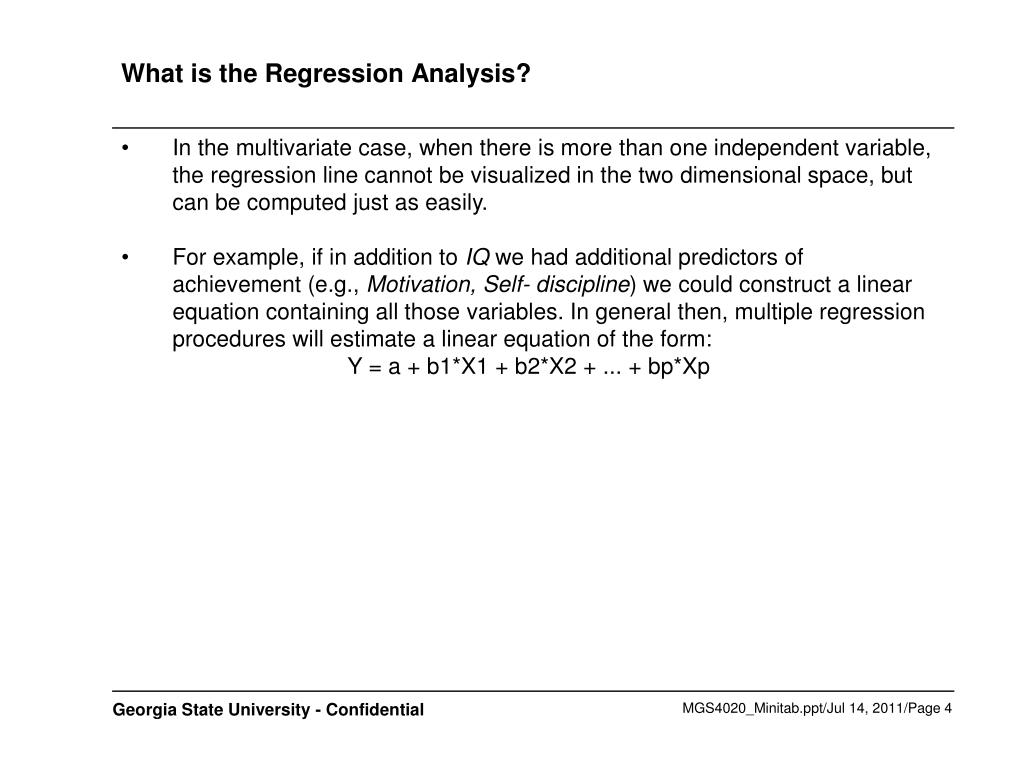 What is the Regression Analysis?