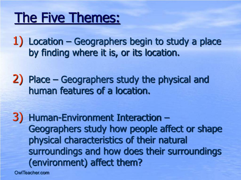 The Five Themes: