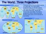 the world three projections