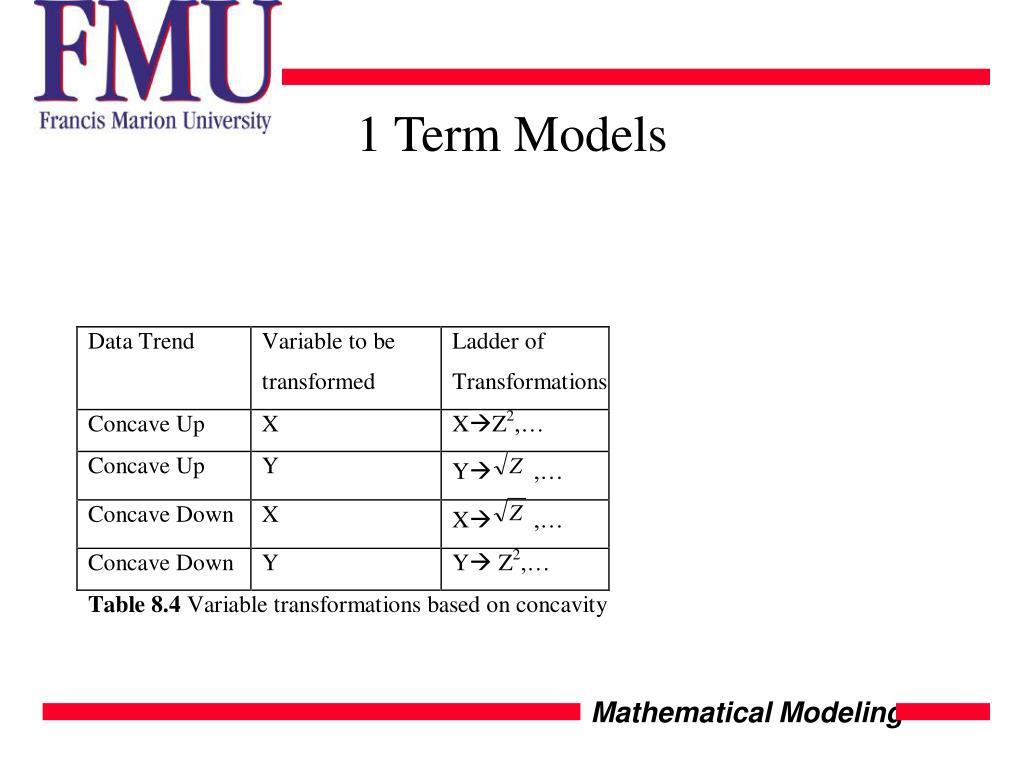 1 Term Models