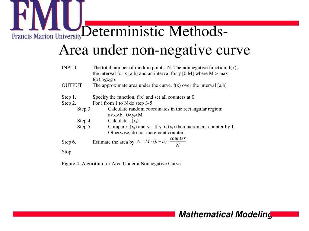 Deterministic Methods-