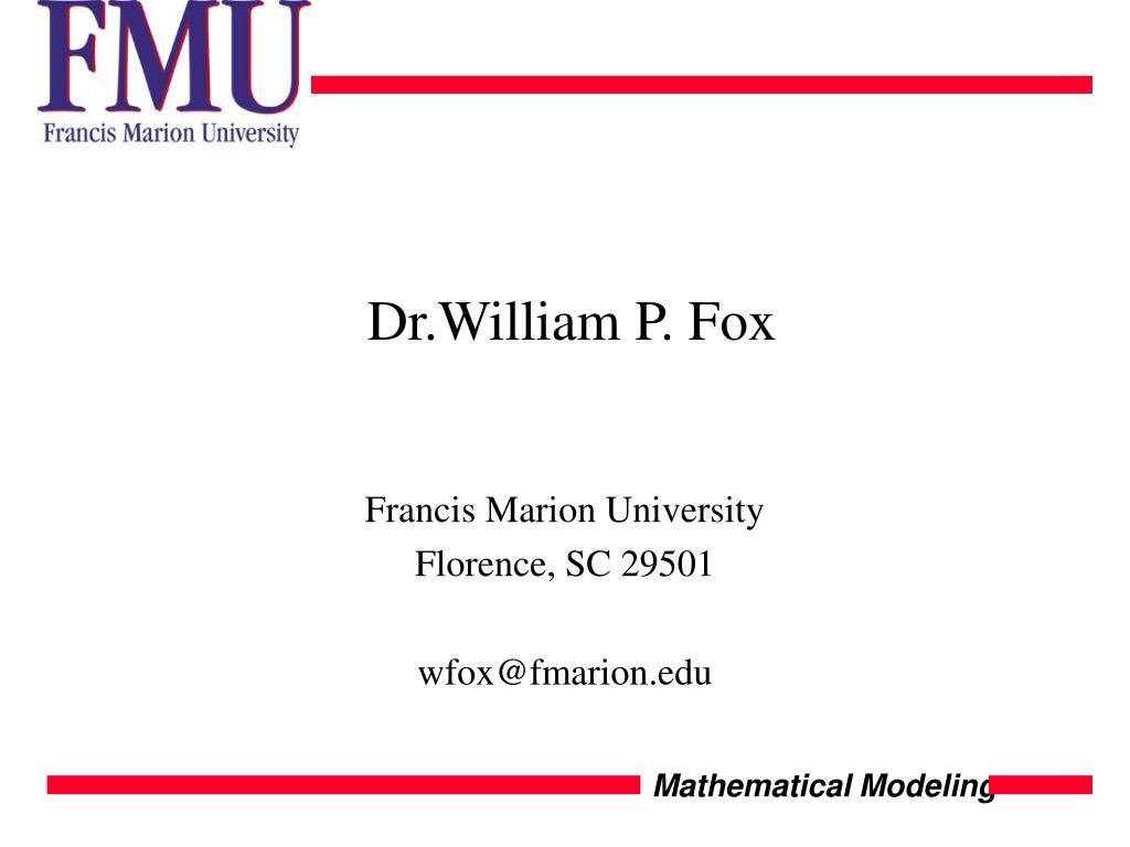 Dr.William P. Fox