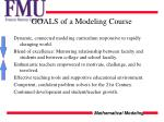 goals of a modeling course