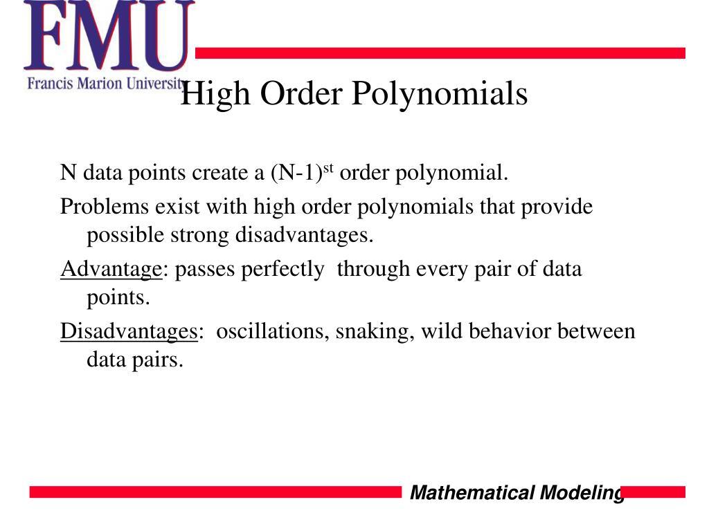 High Order Polynomials