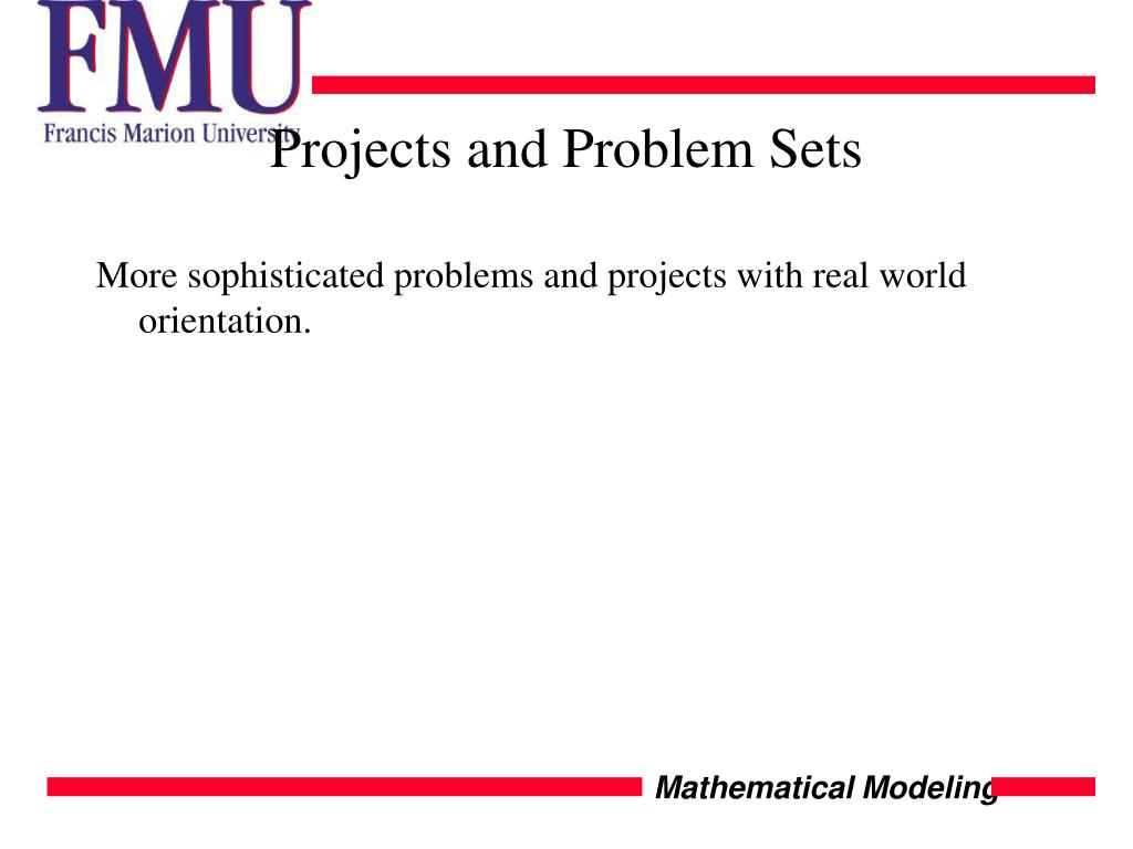 Projects and Problem Sets
