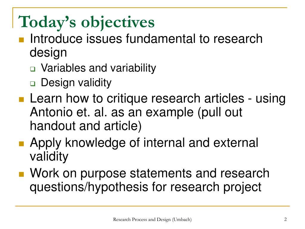 Fundamentals of quantitative research