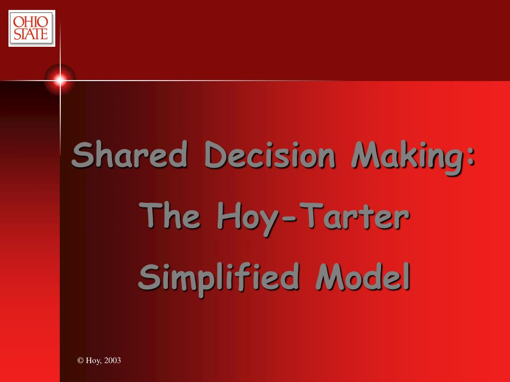 Shared Decision Making:
