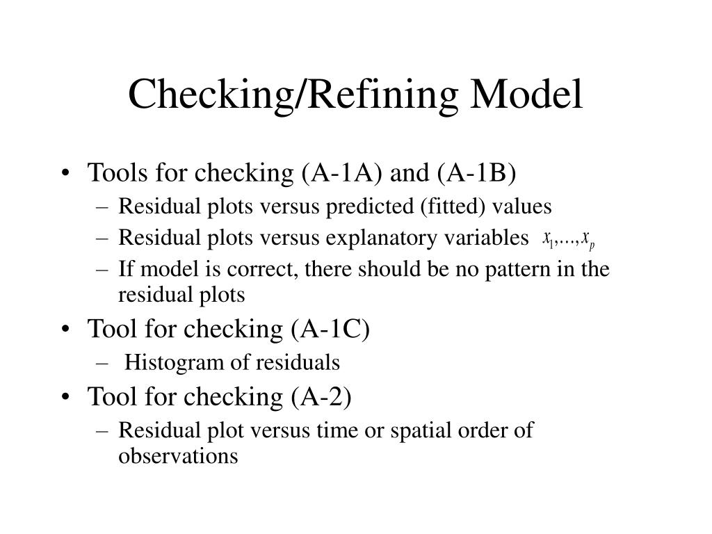 Checking/Refining Model