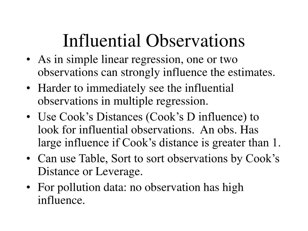 Influential Observations