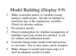 model building display 9 9