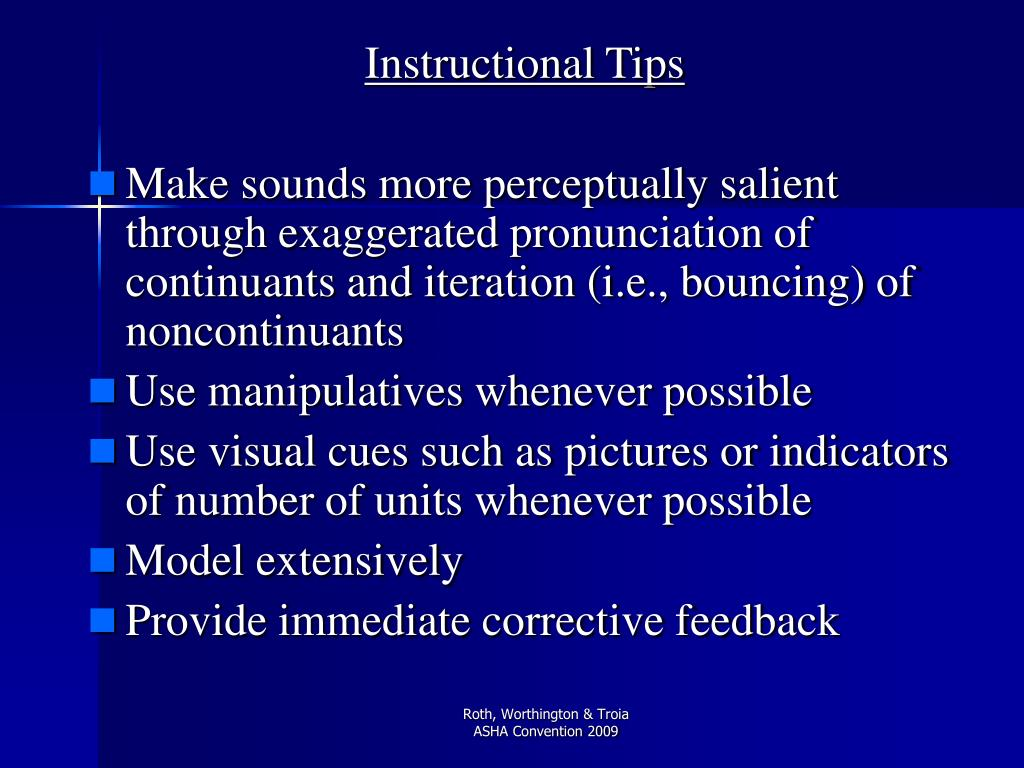Instructional Tips