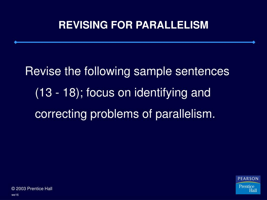 REVISING FOR PARALLELISM