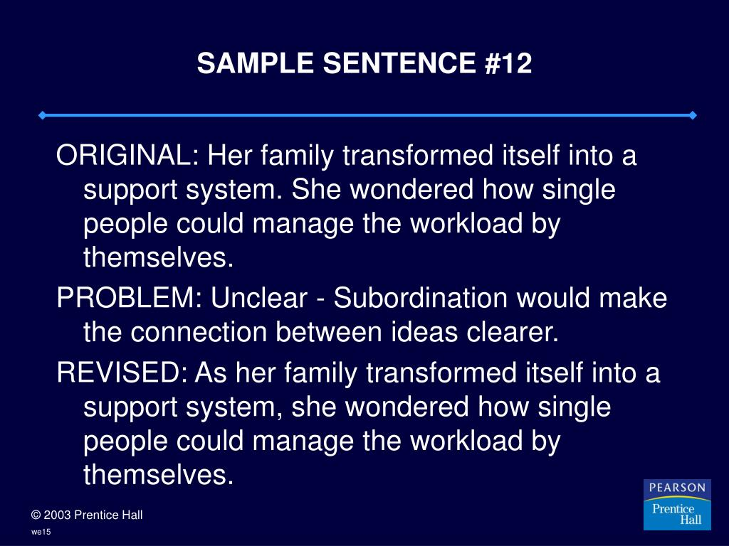 SAMPLE SENTENCE #12