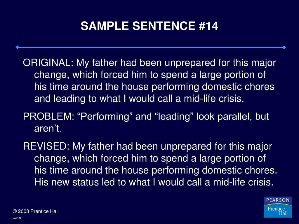 SAMPLE SENTENCE #14