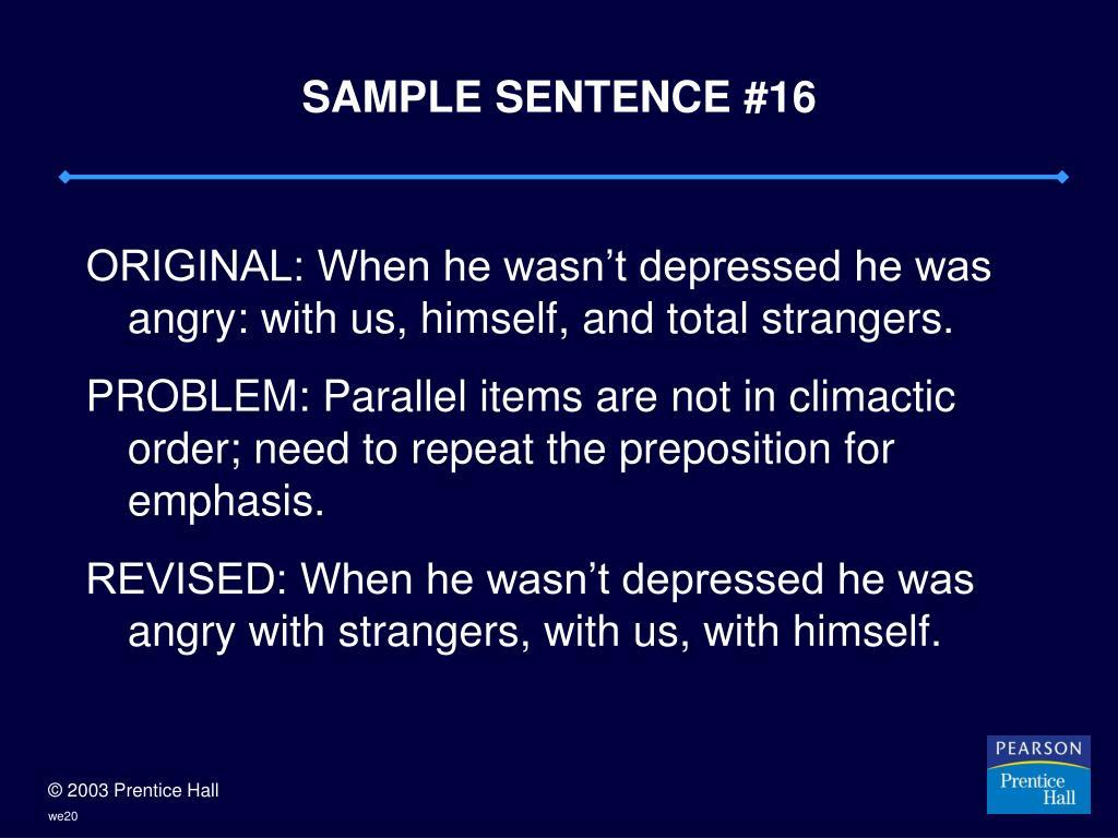 SAMPLE SENTENCE #16