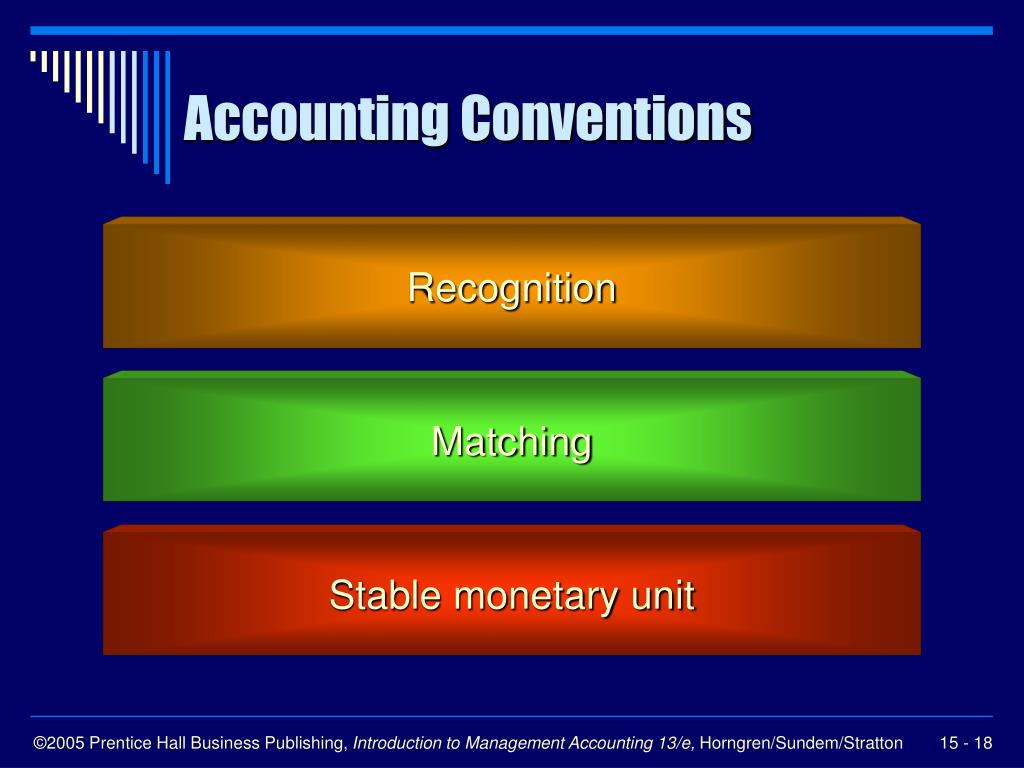 accounting concepts conventions and solutions Accounting principles are the building blocks for gaap all of the concepts and standards in gaap can be traced back to the underlying accounting principles.