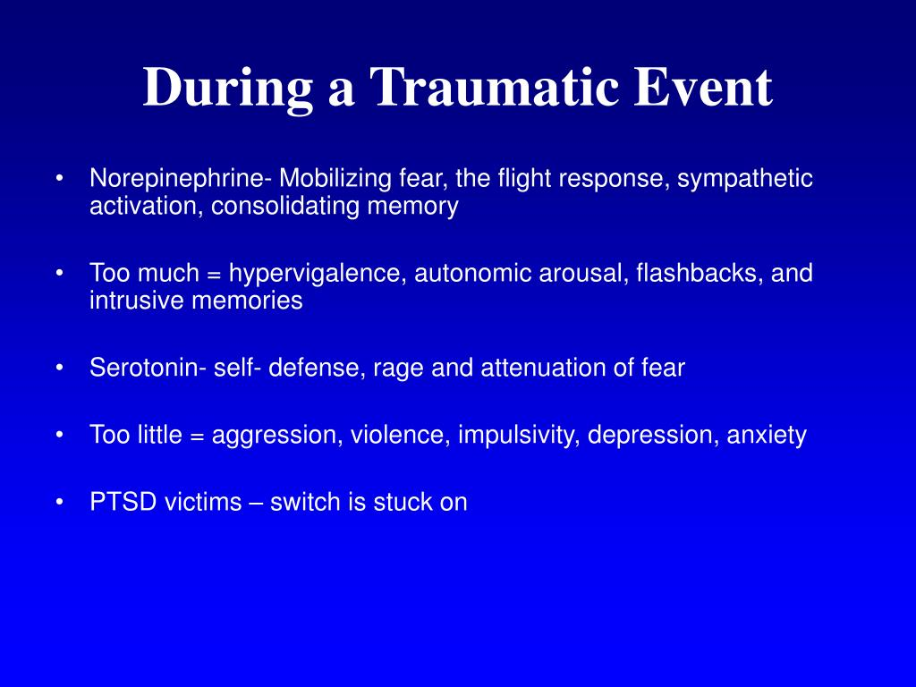 During a Traumatic Event