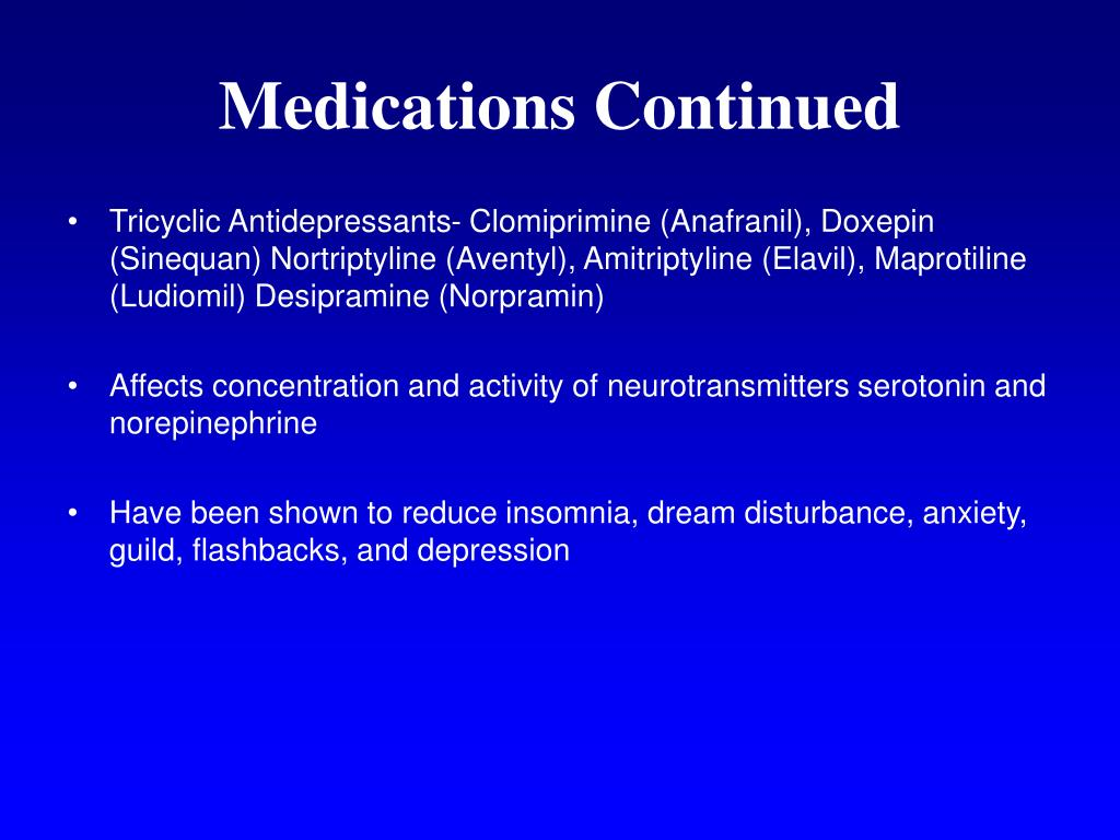 Medications Continued