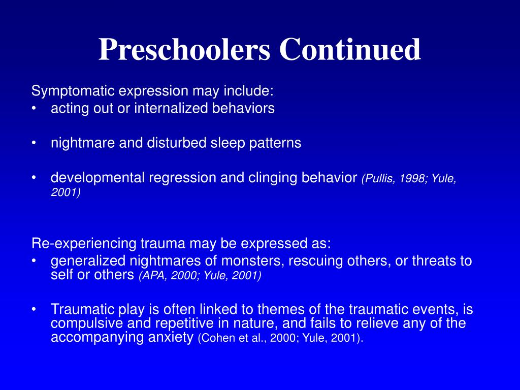 Preschoolers Continued