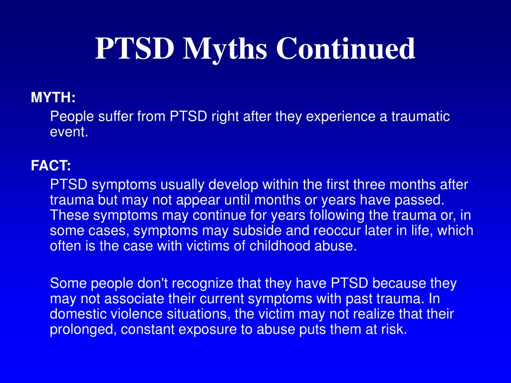 PTSD Myths Continued