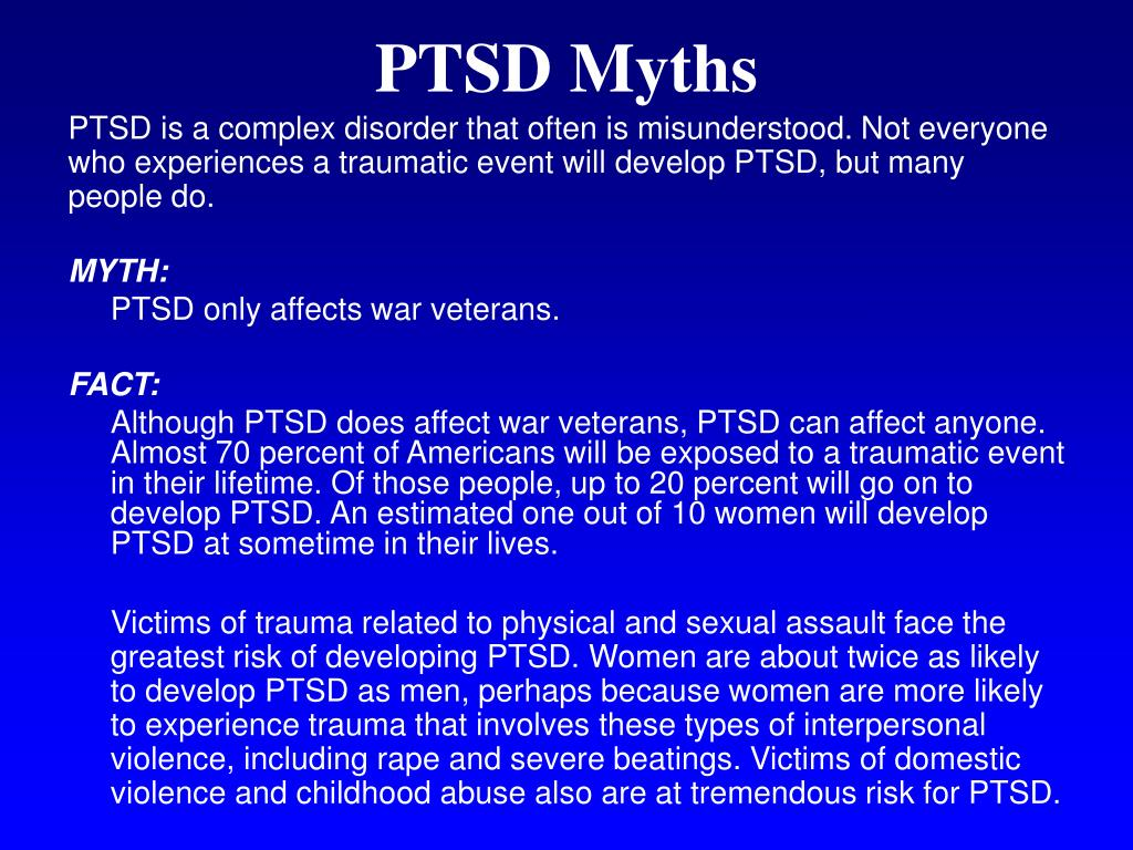 PTSD Myths