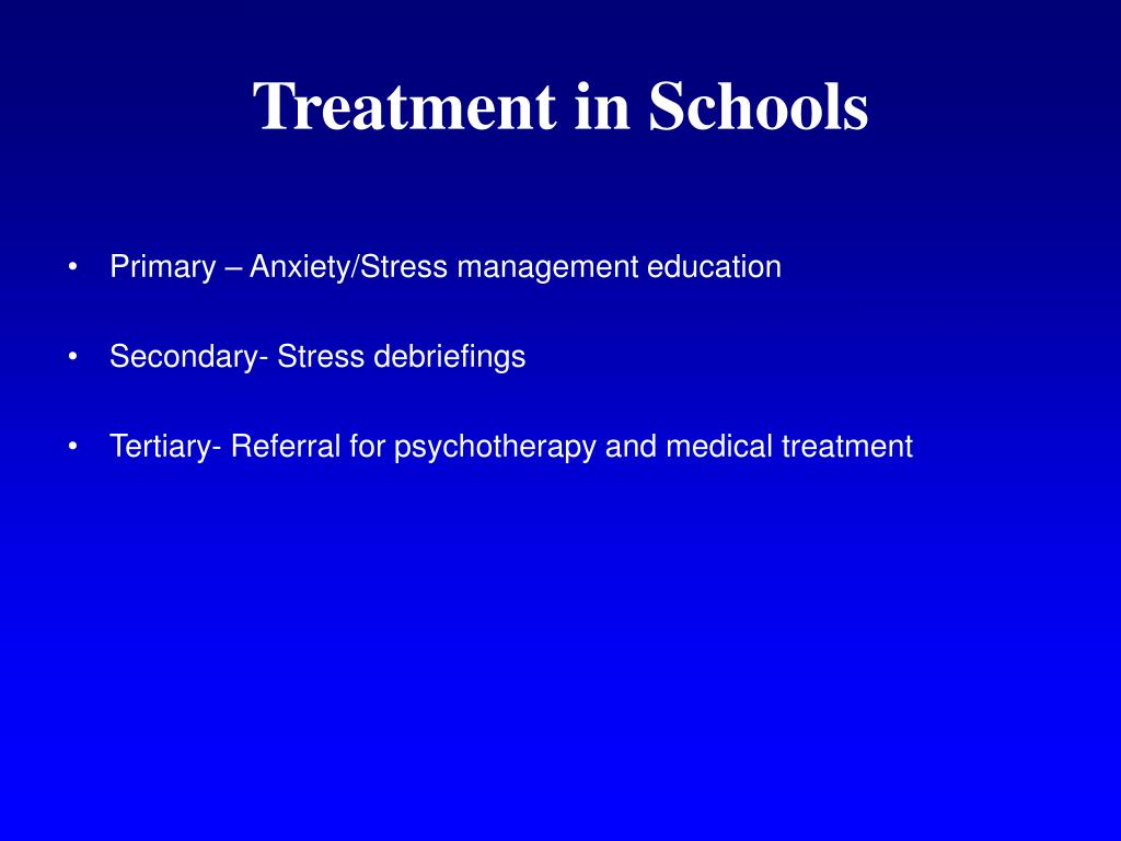 Treatment in Schools