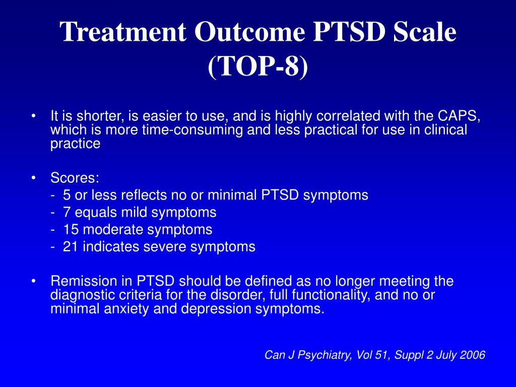 Treatment Outcome PTSD Scale (TOP-8)