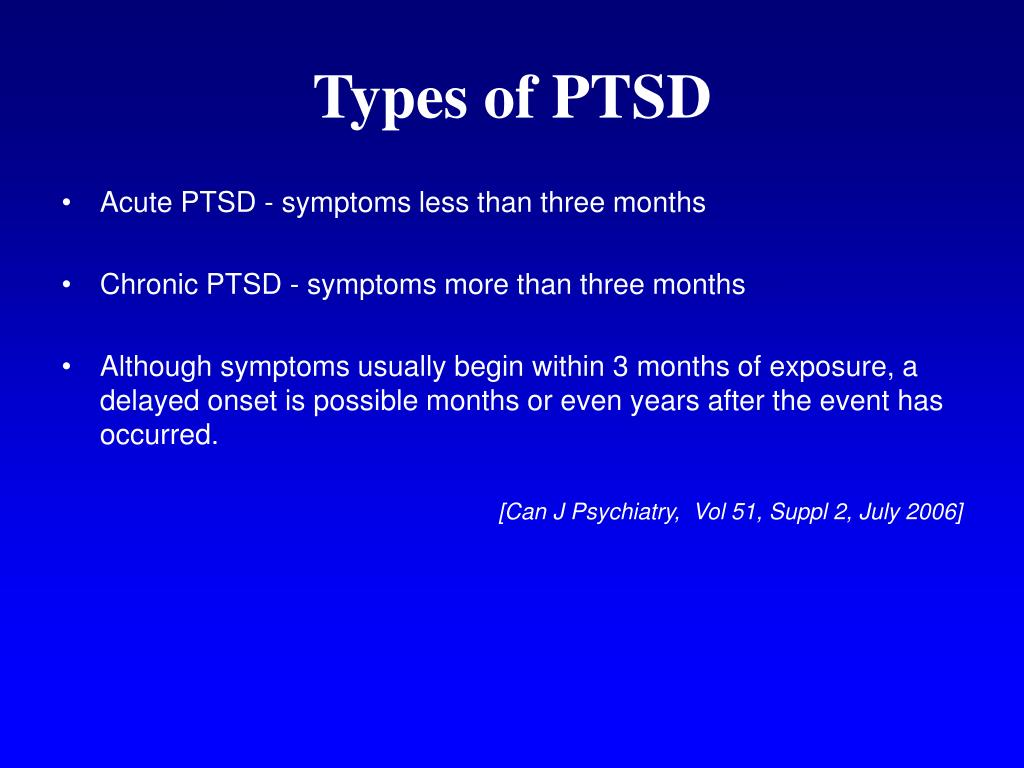 Types of PTSD