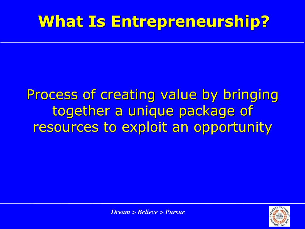 how to become an entrepreneur ppt
