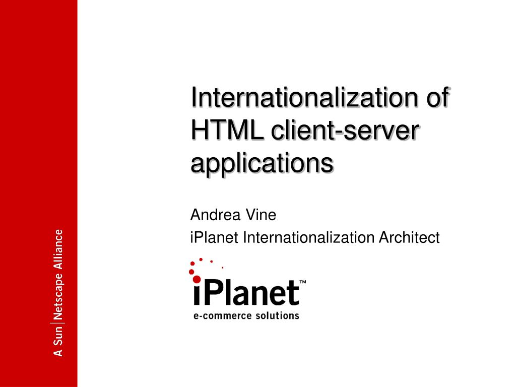 Internationalization of HTML client-server applications