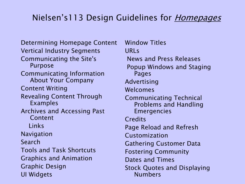 Determining Homepage Content