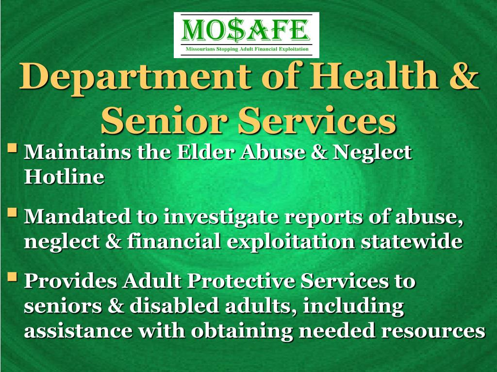 Department of Health & Senior Services