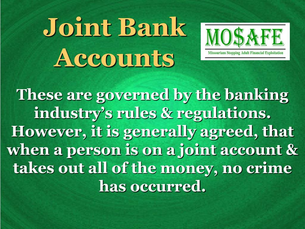 Joint Bank Accounts