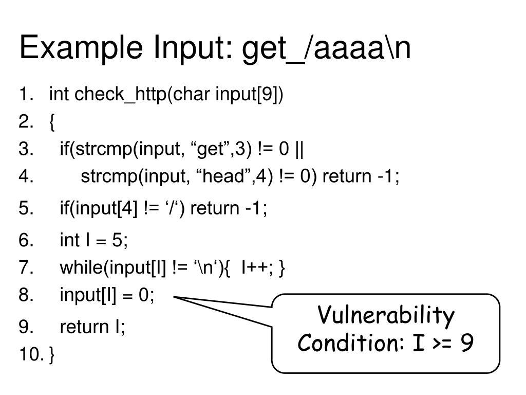 Example Input: get_/aaaa\n